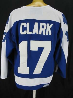 Toronto Maple Leafs Wendel Clark Fight Strap Sewn CCM NHL Hockey Jersey 48