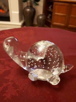 Hidamel Collection Artglass Turtle Paperweight4""