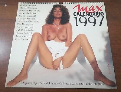 Max Calendario 1997 Top Model-Cindy Crawford-Elle McPherson-Eva Herzigova