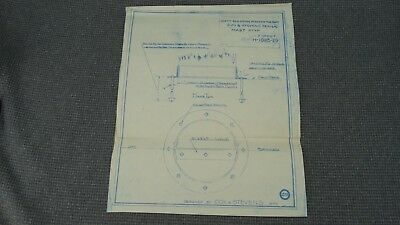 "Original 1918 Blueprint Drawing 13""x10-1/2"" - Mast Step 150 ft Sea-going Tug"