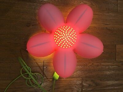 IKEA Smila Blomma Pink Flower Wall Lamp Kids Childrens Baby Nursery Night Light