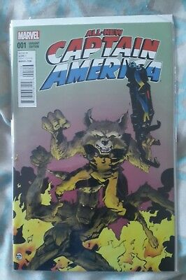 Marvel - All New Captain America Issue #1 - Variant Cover Rocket Raccoon & Groot