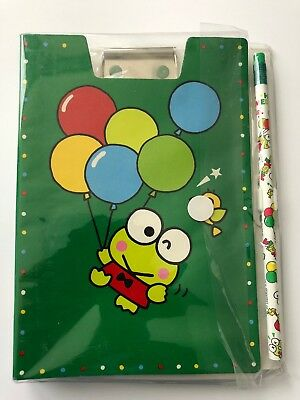 Sanrio Keroppi Notebook, Clipboard And Pencil Set Still Wrapped