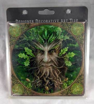 Greenman Decorative Art Tile,  Anne Stokes Collection