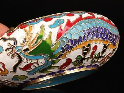 Antique Chinese Enamel Cloisonne Ashtray Hand-Made Handicraft Old Collection