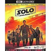 Solo a star wars story  bluray only or 4k only(read description)9/25/18