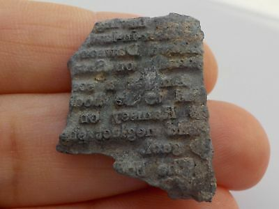 Small Very Old Lead Print Block Fragment Metal Detecting Find