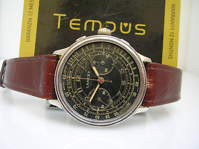 CHRONOGRAPH LANCET COAXIAL YEARS '40 OVERSIZE 40 mm RESET IN CROWN WATCH MEN
