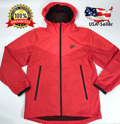 Men's NIKE Windbreaker Red Packable Jacket SMALL 917809-696 (SAME-DAY SHIPPING!)