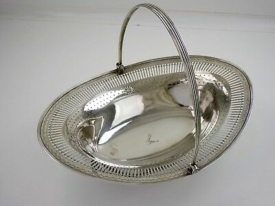 Large 34cm Georgian SILVER BASKET, London 1788 Fab condition CAKE BREAD or FRUIT