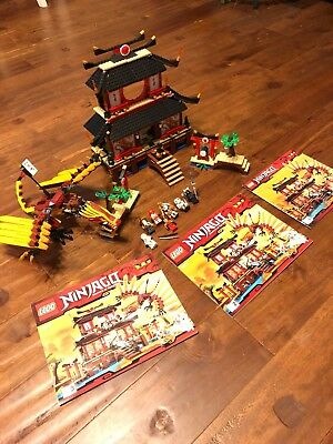 Lego Ninjago Fire Temple 2507 Complete Set With Minifigures Box