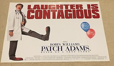Patch Adams Cinema Small Quad Poster