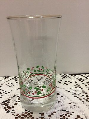 Arby's Libbey 1987 Holiday Christmas Collection Holly Berry Glass #8