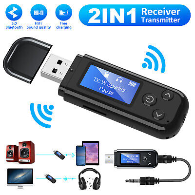 Bluetooth FM Transmitter Car Aux Receiver Radio Charger Adapter Kit Wireless MP3