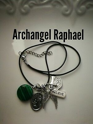 Code 390 Malachite Archangel Raphael Infused Necklace Shield for Health Wrap up