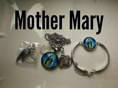 Code 391 Mother Mary infused n charged necklace, earrings bracelet confirmation
