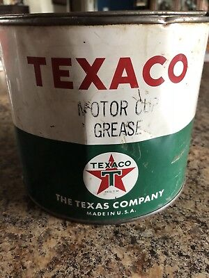 Texaco Motor Cup Grease Can - The Texaco Company, Made In Usa, Vintage