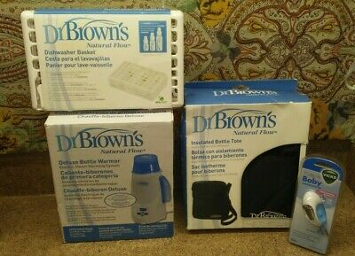 Dr. Brown's Deluxe Baby Bottle Warmer,Insulated Bottle Tote & Vicks Thermometer