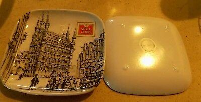 Stella Artois Beer Belgium Snack Plate -Set of Two-Made in Italy