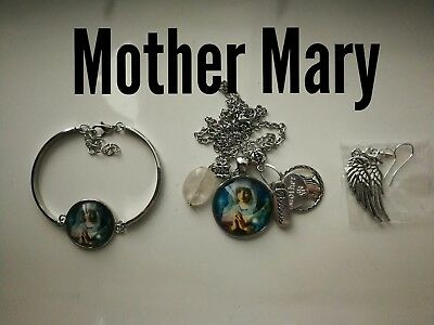 Code 392 Mother Mary infused n charged necklace, earrings bracelet confirmation
