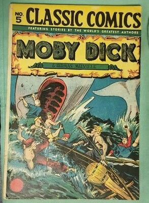 CLASSICS ILLUSTRATED CLASSIC COMICS MOBY DICK 5 (HRN 28) 7th edition 1946