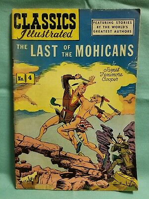 CLASSICS ILLUSTRATED 4 THE LAST OF THE MOHICANS (HRN 64) 9th edition