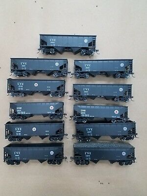 Coal Hoppers 2-Bay, LNE, Lot of 11 , KD Couplers, and Metal Wheels
