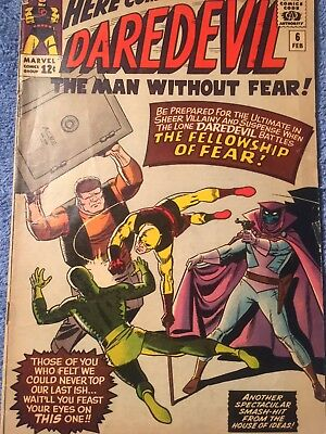 Daredevil #6 (1964) Beautiful copy!! Last issue w/Old costume Check photos
