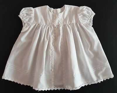 Hand Made White Baby Dress, Collectors, Reborn Dolls ~ Excellent Condition