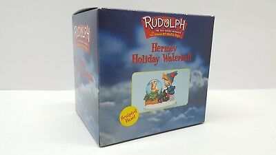 2000 Enesco Rudolph & The Island of Misfit HERMEY WaterBall Snow Globe Christmas