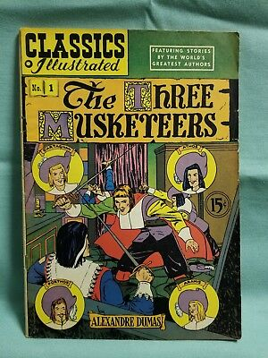 CLASSICS ILLUSTRATED 1 THE THREE MUSKETEERS (HRN 78) 10th edition