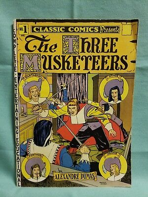CLASSIC COMICS CLASSICS ILLUSTRATED 1 THE THREE MUSKETEERS (HRN 18) 4th edition