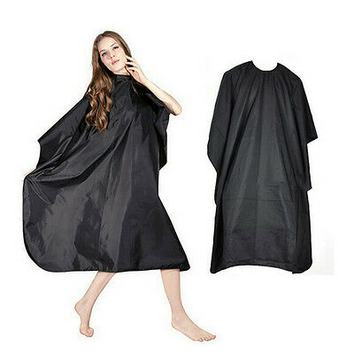 Pro Black Salon Hairdressing Hairdresser Hair Dye Gown Barber Cape Cloth