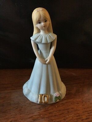 Vintage porcelain  Growing Up Birthday Girls blonde Age 10 ENESCO  No Box