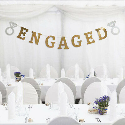 ENGAGED Engagement Party Bunting Banner Garland Banner Prop Hanging Decor