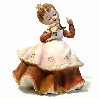 VTG LEFTON CHINA Japan Dancing Singer Girl Figurine Flower