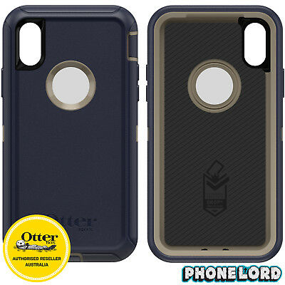 Genuine OtterBox Defender Case Cover For iPhone XS MAX Dark Lake NEW IN STOCK