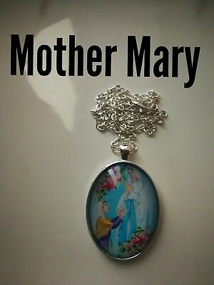 Code 393 Mother Mary xxl Necklace Confirmation Holy Communion Catholic Church