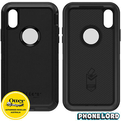 Genuine OtterBox Defender Case Cover For iPhone XS MAX Black NEW IN STOCK 2018