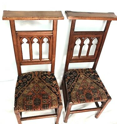 Pew Chairs - 19th Century Gothic Hardwood