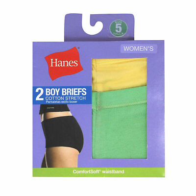 Hanes Women's Cotton Stretch Boy Briefs