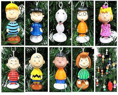 Charlie Brown Christmas Ornaments 12pc  Set Featuring Snoopy, Woodstock, Linus