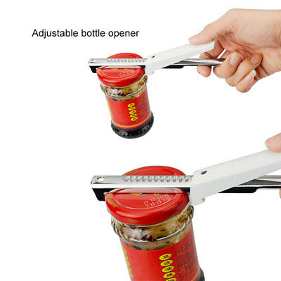 Adjustable Stainless Steel Can Bottle Jar Seal Lid Opener Remover Kitchen Tool