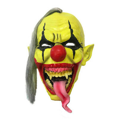 Halloween Clown Mask Gruslige Scary Horror Clown Masken Cosplay Latex Maske