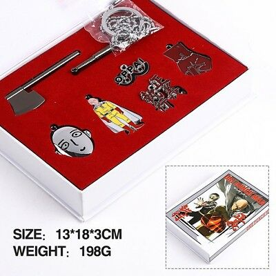 7 Pcs ONE PUNCH-MAN Weapon Keyring Set Boxed Keychain Gift Collect Anime Cosplay