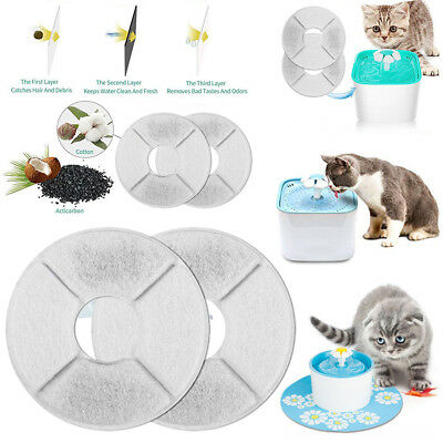 1/6/8pc Flower Style Filter For Automatic Cat Dog Kitten Water Drinking Fountain