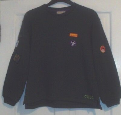 """Boys Cubs Sweater Size 32"""" Bottle Green Crew Neck Good Condition"""