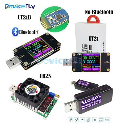 UT21 UT21B Color LCD USB Tester Bluetooth Current Voltage Power Meter Voltmeter