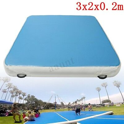 3M*2M Inflatable Gymnastics Mat Air Practice Tumbling Airtrack Floor Home GYM