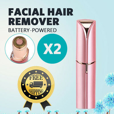 Flawless Facial Hair Remover Battery Power Finishing Painless Face Removal Women